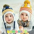 2016 зима корейской версии новый шлем младенца милый пингвин новорожденного шляпа красочные детские зимняя шапка хеджирования крышка