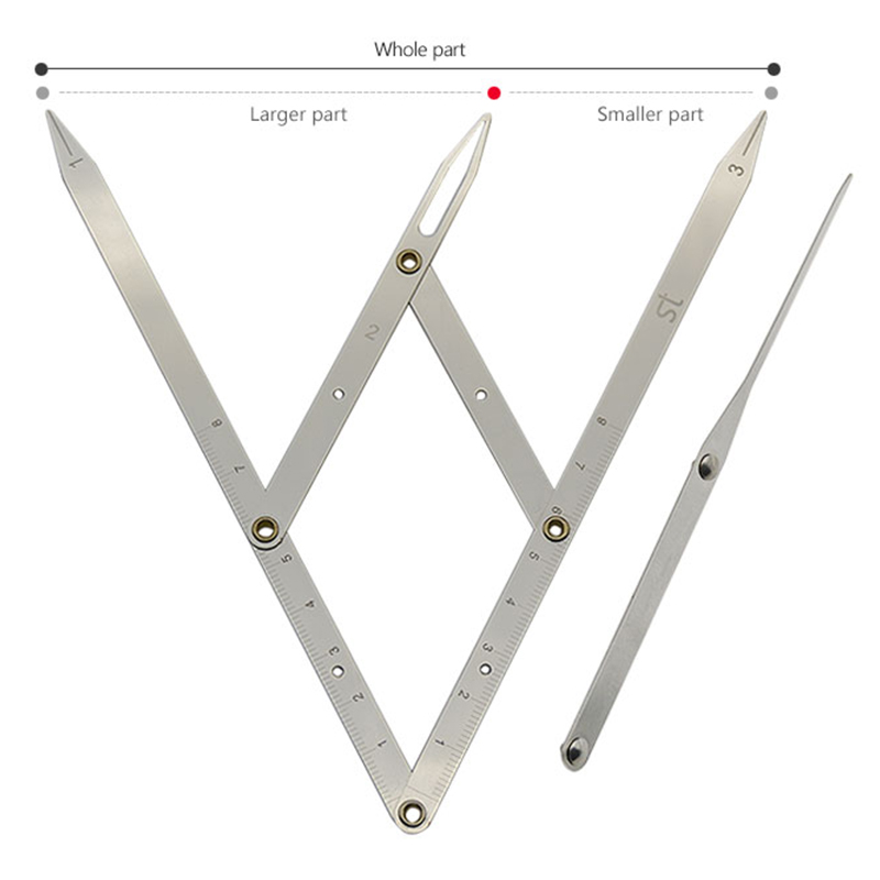wholesale 100pcs Stainless steel Golden Ratio CALIPERS  Eyebrow Microblading Permanent Makeup Measure Tool
