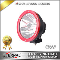 Free Shipping Pair 6 7in Round LED Driving Light 45W Cannon LED Spotlight For 4x4 Off