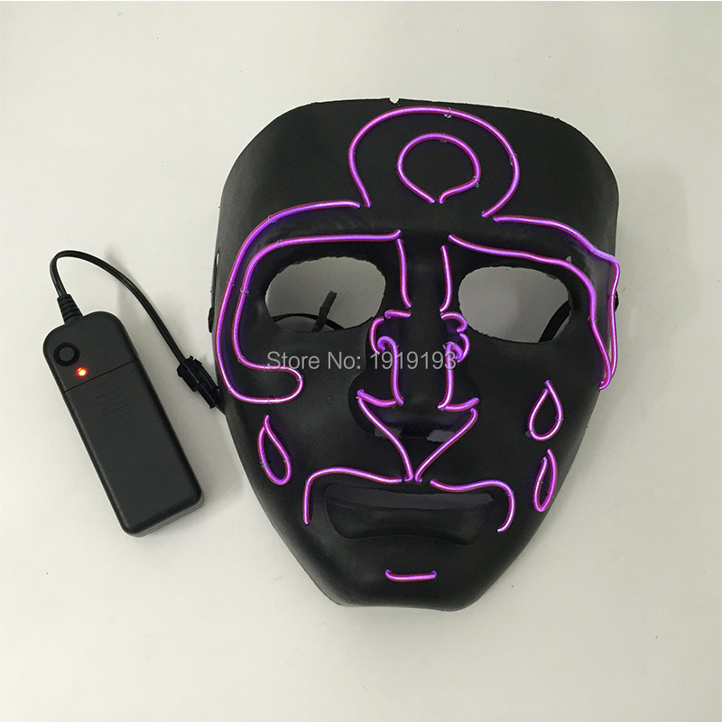DC3V Led Strip Light Boat Anchor Tear Type Mask Popular Fantastic EL Rope Neon Flashing Creepy Spooky Mask Scary Party Supplies free shipping luxury pu leather car trunk mat cargo mat for chevrolet malibu holden 2016 9th generation