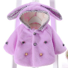 Baby Coat Winter Warm Spring Autumn Outwear Infants Girls Cute Rabbit Hooded Pri