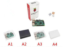 On sale in stock 2016 new raspberry pi 3 pcakage include Raspberry PI 3 model B + case + heat sink pi 3 with WIFI and bluetooth