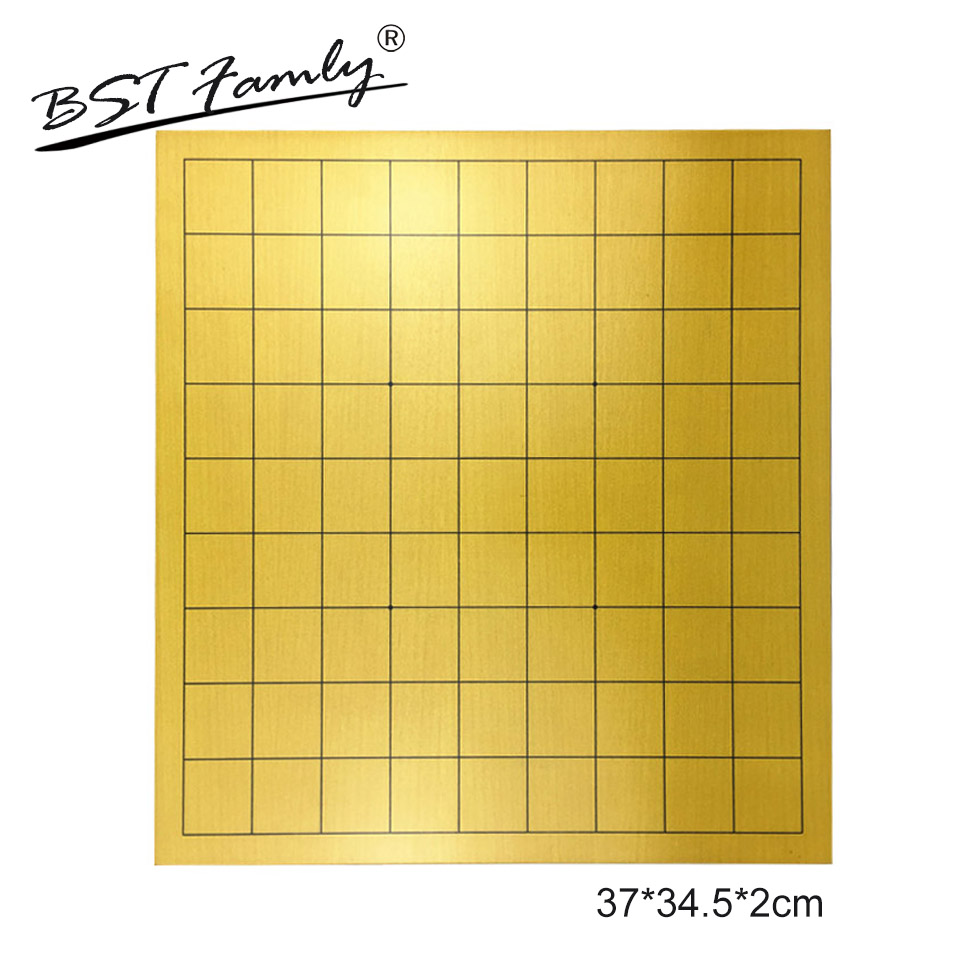 BSTFAMLY Japan Shogi Top grade Wooden Chessboard 37*34.5cm Hardness 2cm for International Sho-gi Chess Game Portable Gift JB02 foldable magnetic folding shogi set boxed portable japanese chess game sho gi exercise logical thinking 25 25 2 cm