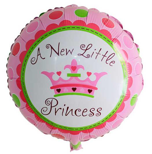 18 นิ้วใหม่เจ้าหญิงน้อย Prince รอบฟอยล์บอลลูนวันเกิดเด็กมงกุฎตกแต่งบอลลูนฮีเลียมเด็กอาบน้ำ