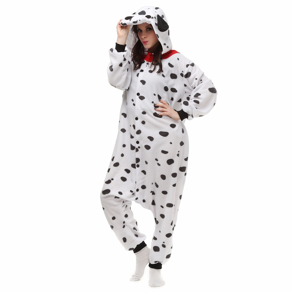 Anime Pajamas Dalmatian pijamas Unisex Adult Animal Onesies Cosplay Costume Pajamas Hot Sale unisex Adult Onesie sleepwear