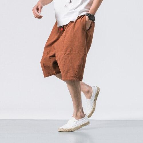 Мужские мешковатые штаны, Мужские штаны-шаровары длиной до икры с эластичной резинкой на талии, армейские брюки, мужские повседневные штаны в стиле хип-хоп, большие шаровары - Цвет: coffee