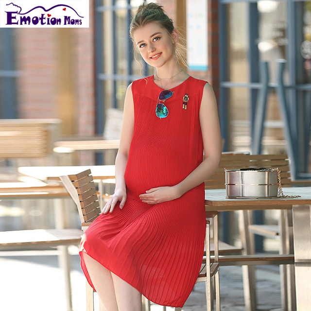 Emotion Moms Loose maternity clothes Chiffon summer Nursing pregnant dress pregnancy clothes for Pregnant Women maternity dress