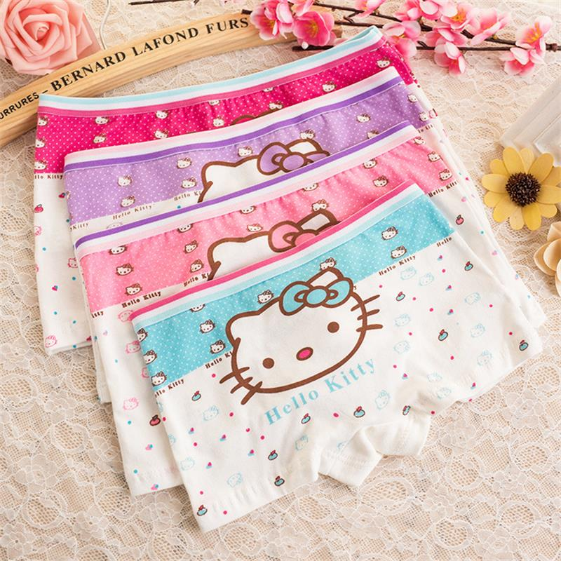 591f84efc New Underwear Children Cute hello kitty cartoon cotton baby pants Sexy Lingerie  Panties Cute Boyshort Underwear For Girl and Boy