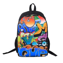 2017 women backpack 3d Cartoon Laptop Backpack Back To School College Backpack New Fashion Men Travel Printing Bag High Quality