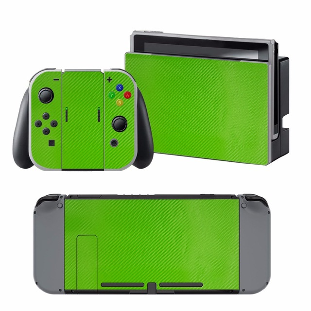 Carbon Fiber Sticker Vinly Skin Sticker Cover Protective for Nintendo Nintend Switch NS Console Protector Cover Decal Vinyl Skin 2