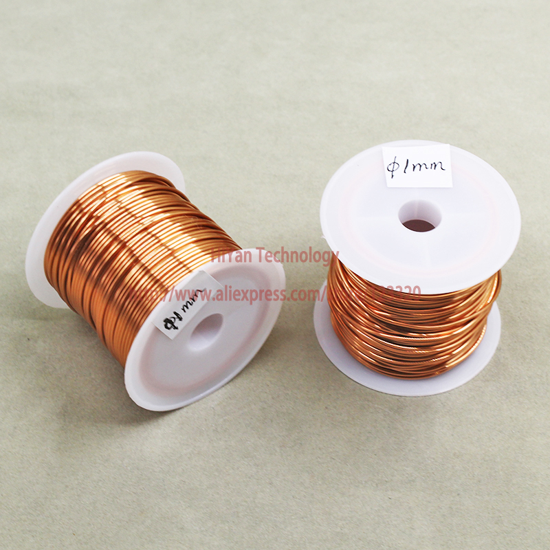 (100Grams/lot) 12m Polyurethane Enameled Copper Wire Diameter 1MM Varnished Copper Wires QA-1/155 2UEW Transformer Wire Jumper 1pc enameled wire stripping machine varnished wire stripper enameled copper wire stripper xc 0312