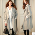 Autumn  Europe high-end women's hot plus size  brand Long coat female clothes woolen trench slim  plus size coat