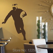 free shipping Rugby Player Sport Vinyl Wall Sticker Stylish Removable Adhesive Decal Sport Transfer Home Decoration(China)