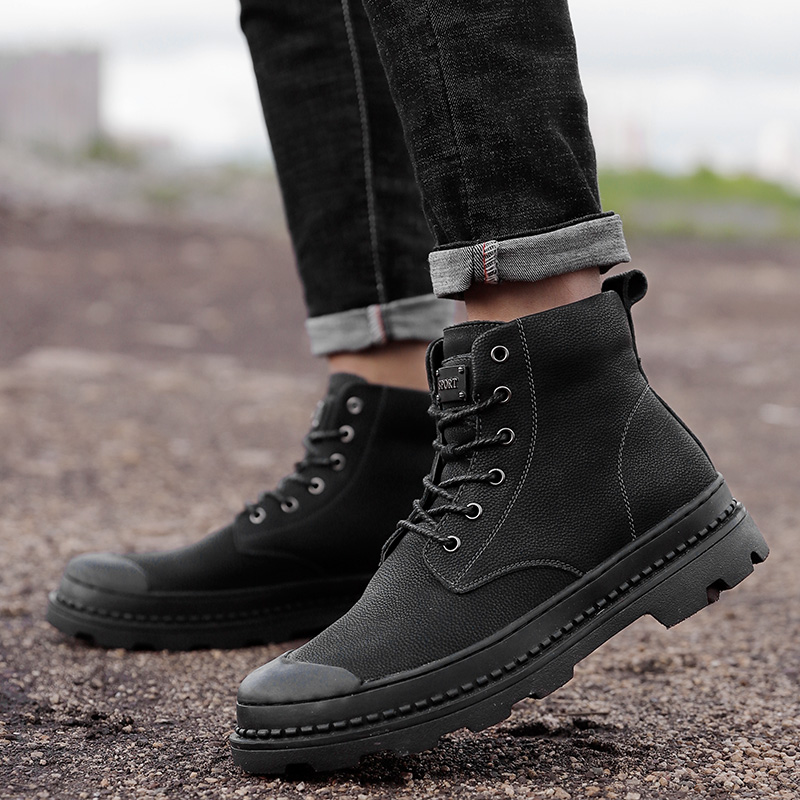Large size 12 winter boots Men genuine leather snow Boots for men fur warm Fashion Military Ankle Boots outdoor Casual Shoes w45 cimim brand new fashion genuine leather boots men ankle boots casual warm winter snow warm fur boots men shoes plus size 39 50
