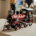 Acabamiento Retro Locomotora Modelo L tamaño Metal de Tren Modelo de Tren de Vapor De Hierro Tesoro Decoración Artesanía Hogar y Tienda M1120