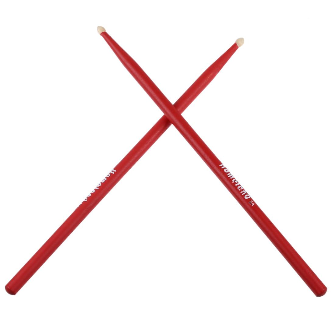 Пара Music Band клена красный барабанные палочки 5A