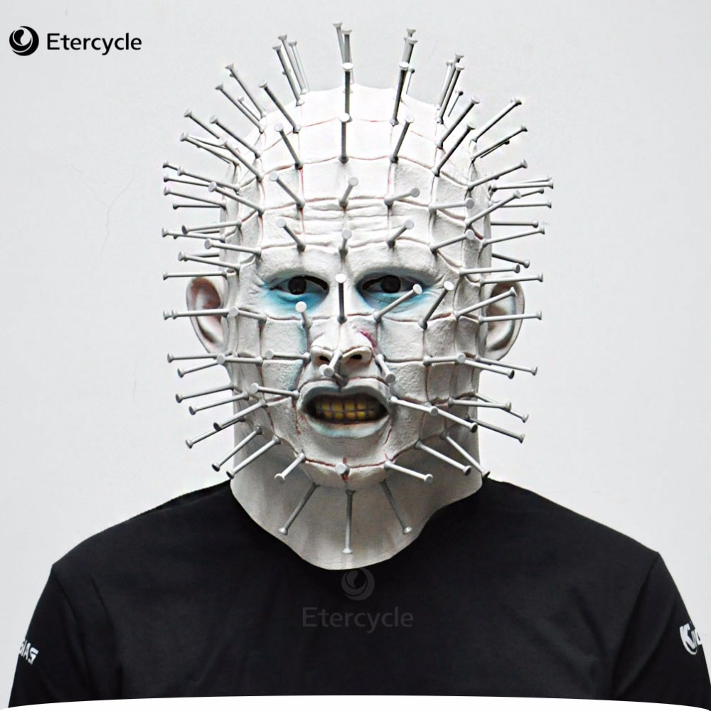 Scary Pinhead Masks Hellraiser Movie Cosplay Latex Adult Party Masks for Halloween