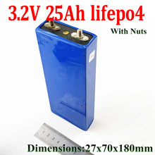 96 pcs lifepo4 3.2v 25Ah cells 3.2v 30A discharge 750w 1500w for diy pack 24v 25ah battery electric bike battery 48v 25ah kit(China)