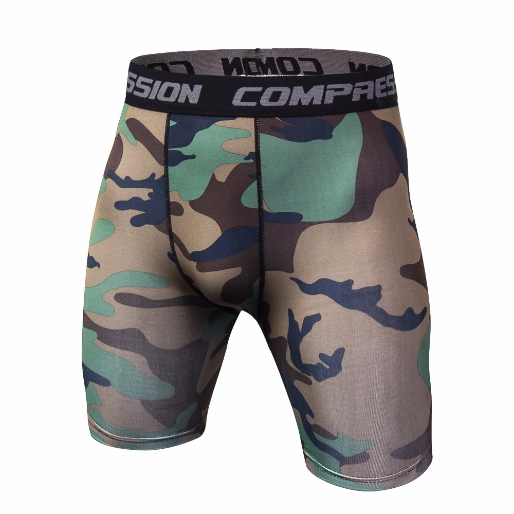 Summer 3D Printing Camouflag Compression Tights Shorts Fitness Men Bodybuilding Shorts Bermuda Brand Shorts Tights Fitness Short
