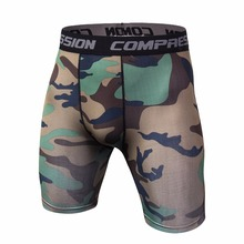 Summer 3D printing Camouflag Compression Tights Shorts Fitness Men
