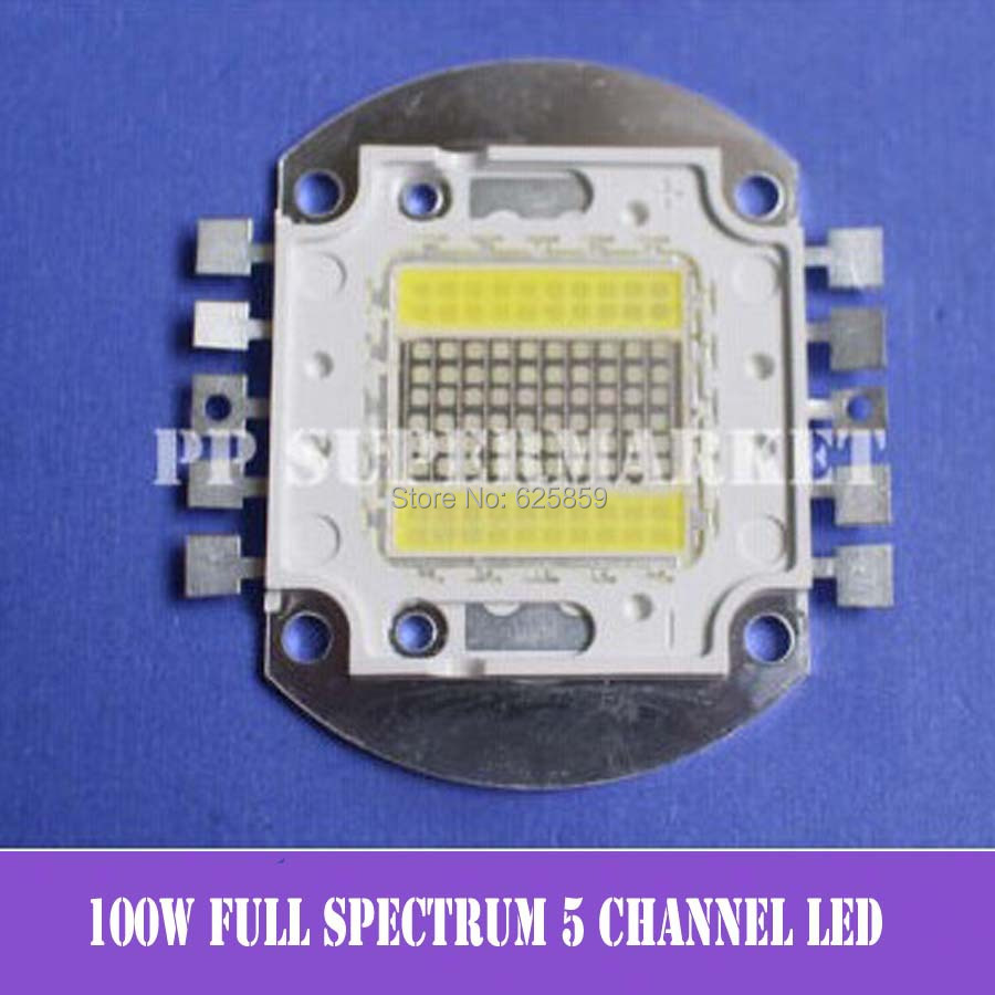 50W full spectrum 5 channel led aquarium Grow light 420nm-455nm 10000K 15000K
