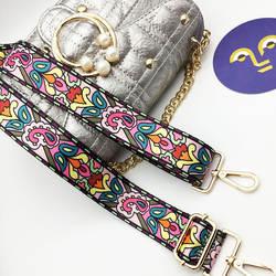 IKE MARTI цветная сумка ремень цветок Замена Широкие ремни для сумки через плечо аксессуары нейлоновый плечевой ремень для сумок