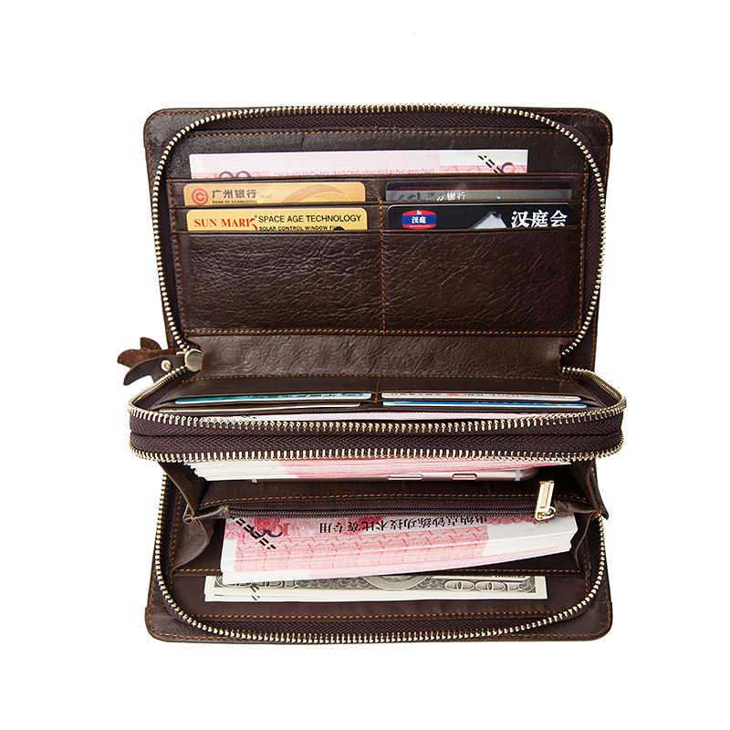 WESTAL бумажник мужской натуральная кожа Мужская деловой клатч portomonee carteras кошельки мужские кожаные доллар Монета с денежной сумкой кошелек
