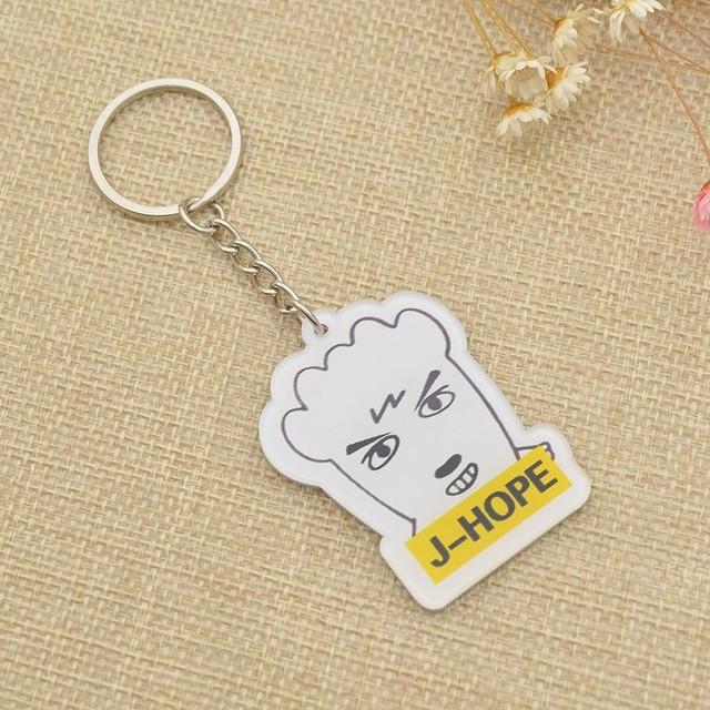 BTS Acrylic Cute Keychains (Sold Separately) (Jungkook Jimin V Suga Jin Rap Monster Jhope J-Hope)