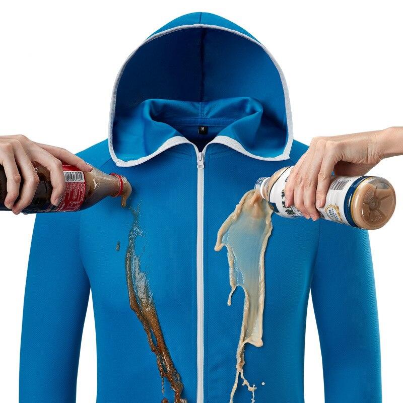 Ice Silk Hoodie Jacket Men Summer Lightweight Waterproof Quick Dry Skin Coat Casual Thin Breathable Outwear Windbreaker M-4XL