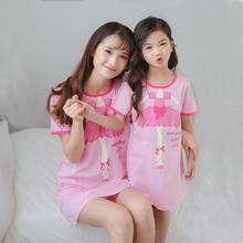 Новинка года; хлопковая ночная рубашка для девочек; детские пижамы; платье для маленьких девочек; Одежда для маленьких детей; одежда для детей; ночные рубашки с единорогом для больших девочек