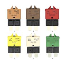 DC 28V Manual Reset ATC Circuit Breaker Blade Fuse for Car Motorcycle Truck Boat Marine Auto Accessories 5A 7.5A 10A 20A 25A 35kv 0 5a 50ka ceramic electronic circuit protection tubular fuse link