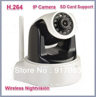 Wifi Wireless IP Camera HD 1.0 Mega Pixels H.264 With IR cut SD Card Slot Apple Android Windows System Support