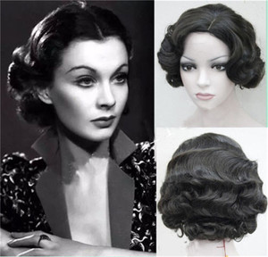 Image 2 - New 9 Colors 20s Womens Retro Short Finger Wave Curly Wavy Pinup Wigs Classy Vintage Wavy Style Wig Halloween Cosplay Headwear