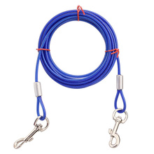 Pet Dog Basic Leash Unbreakable Alloy Products For Small Medium Large Dogs Double Heads Outdoor Wire Supplies