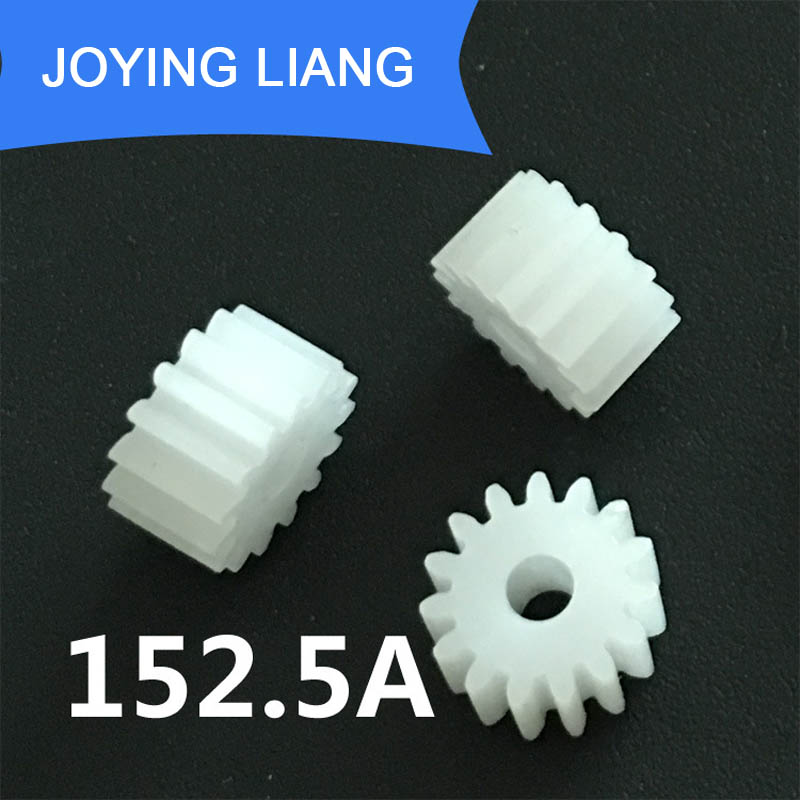 152.5A 0.5M Gears 2.5mm Tight Hole Diameter Modulus 0.5 15 Teeth Plastic Gear DIY Toy Accessories
