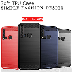 На Алиэкспресс купить чехол для смартфона esobest nova 3 4 4e 5i carbon fiber brushed cover for huawei p20 lite 2019 silicone case for huawei p20 lite p30 pro tpu case