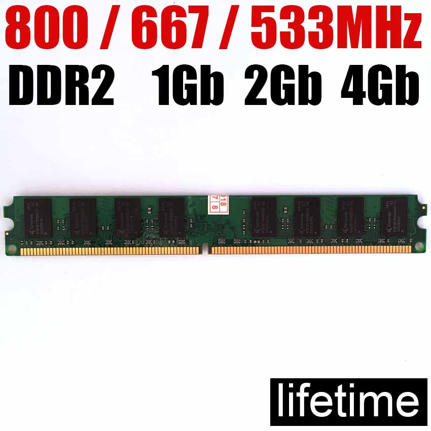 4gb DDR2 RAM 2Gb Ddr2 800 667 533 Mhz - 1Gb 2 G 4 Gb / For AMD For Intel Memoria Ddr2 2Gb Ram 800Mhz Ddr 2 Memory PC2 6400
