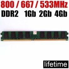 4 gb DDR2 RAM 2Gb ddr2 800 667 533 Mhz - 1Gb 2G 4 Gb/intel için memoria ddr2 2Gb ram 800Mhz ddr 2 bellek PC2 6400