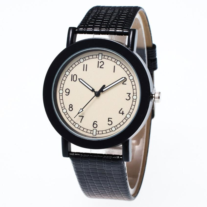 Watch Womens Fashion Simple And Brief Pattern Leather Band Analog Quartz Vogue reloj mujer jun1 lucky 2015 vogue reloj lucky12
