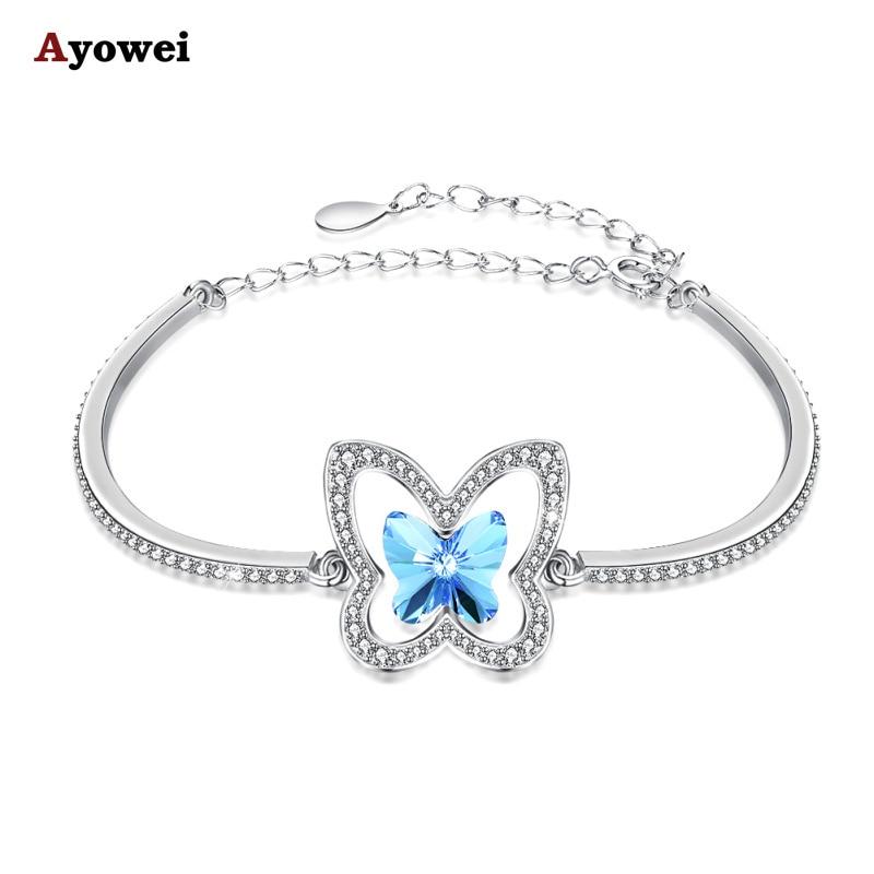 Aliexpress.com : Buy AYOWEI Blue Zircon 925 Sterling