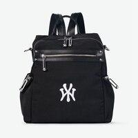 WANU Oxford with Cow Leather Black Backpacks Women Luxury Designers Backpacks Mochila Kanken Backpack Travel Fashion Bags