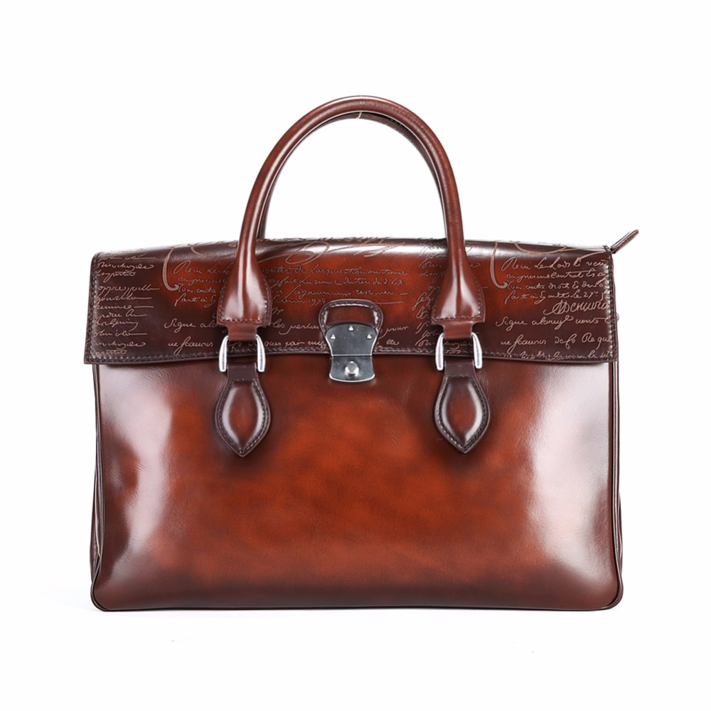 TERSE_Handmade Full Grain Leather Briefcase Burgundy Coffee in Stock Hot Selling Dress Bag Men High Quality Handbag Dropshipping 16 inches glueless full lace wigs stock top quality jewish wig in stock big layer as picture