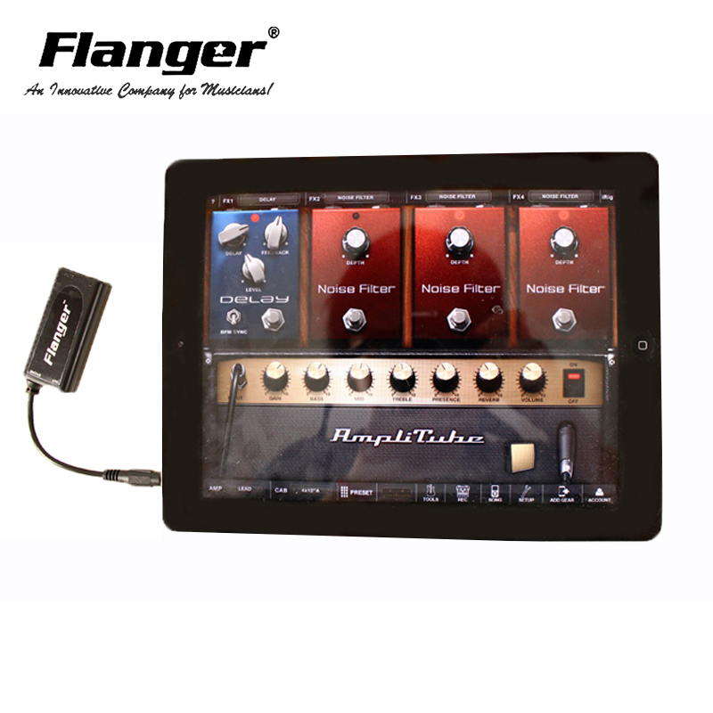 Flanger FC 20 3 5mm Output Guitar Effect Interface Link Adapter Audio Connector For iPhone IOS