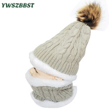 New Fashion Winter Baby Hat and Scarf Knitted Warm Hats for Girls Autumn Crochet Boys Hat Winter Children Kids Cap Scarf Collar