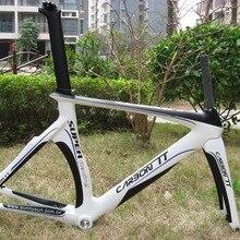Новое поступление!! дизайн аэро карбоновая рама велосипеда белый/черный