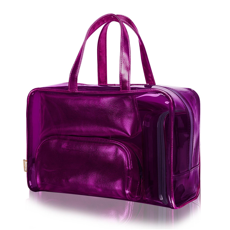 321a0d4c474e Cosmetic Bag Portable Carry on 5 in 1 Travel Toiletry Bag Clear PVC Makeup  Case Pouch Transparent Women Handbag Makeup Organizer