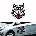 1 UNIDS Tótem Del Lobo Etiqueta Engomada Del Coche Reflexivo Pasta De Repuesto Puerta Rasguño Pegatinas Creativo 3d Car Sticker Car Styling Car Decoración
