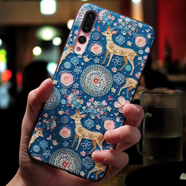 Cute Cartoon Patterned Phone Case For Huawei and Honor