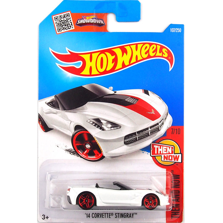 HotWheels Die-casts Then and Now: '14 Corvette Stingray/Toy/Mannequin Automobile/2016#107/250