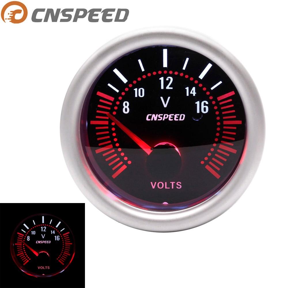 52mm Backlight LED Car Boat Marine  8-16V Voltmeter Volt Voltage Gauge Meter